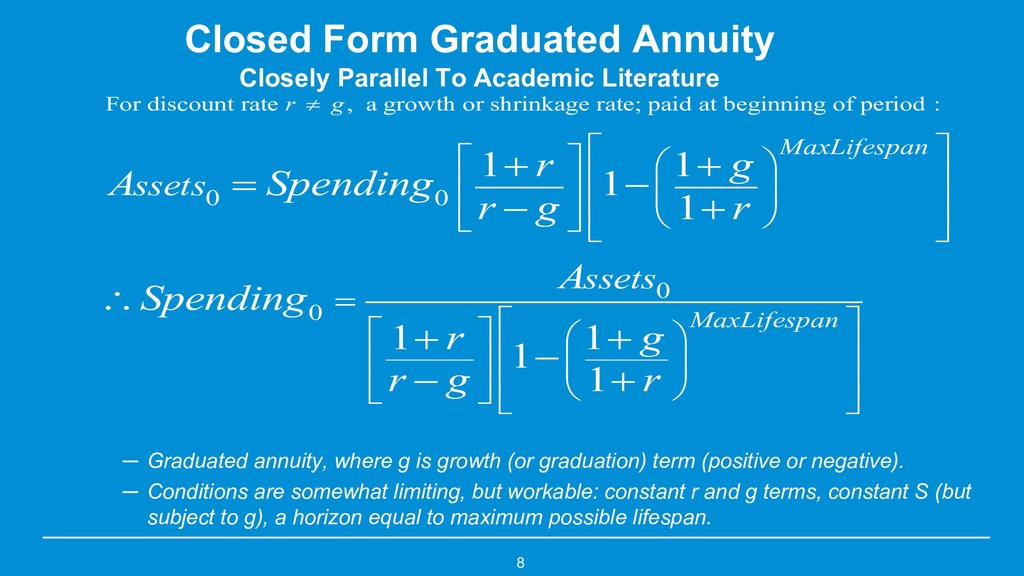 8 Closed Form Graduated Annuity Closely Paralle...