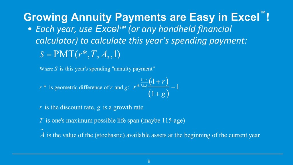 9 Growing Annuity Payments are Easy in Excel™! ...