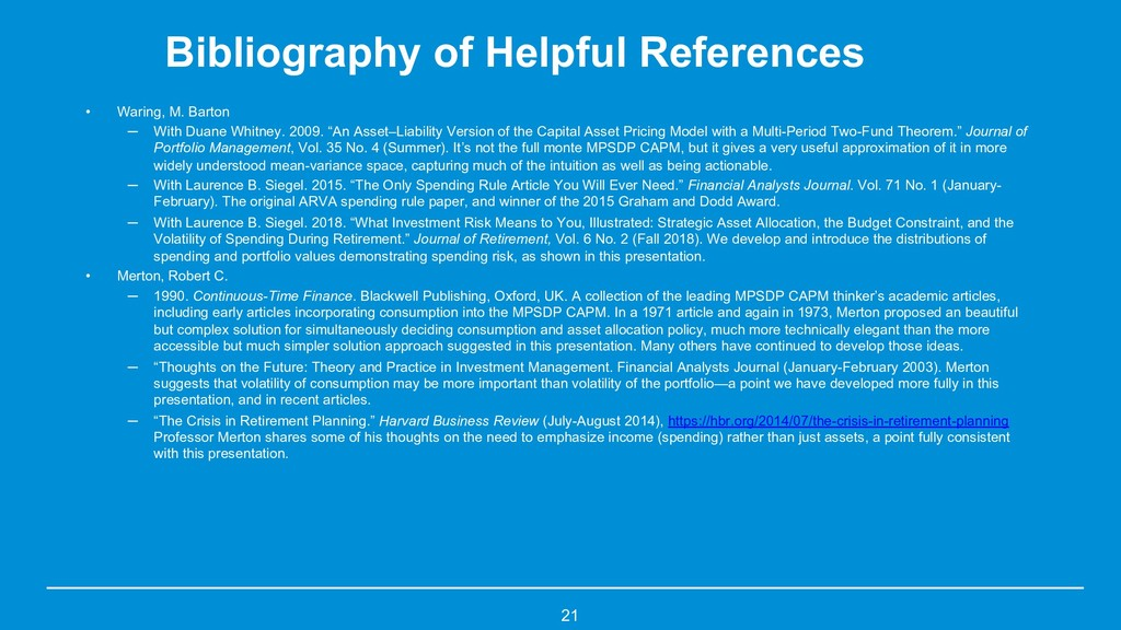 Bibliography of Helpful References • Waring, M....