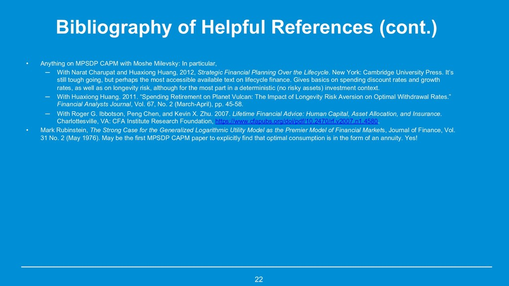 Bibliography of Helpful References (cont.) • An...