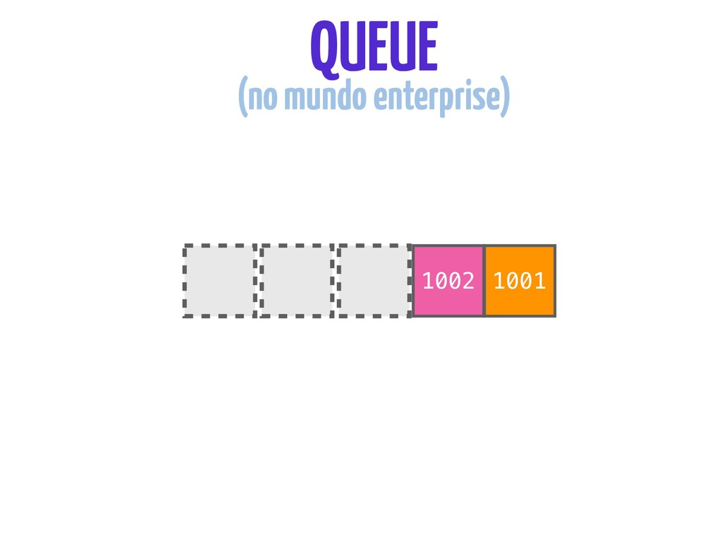 1002 1001 QUEUE (no mundo enterprise)