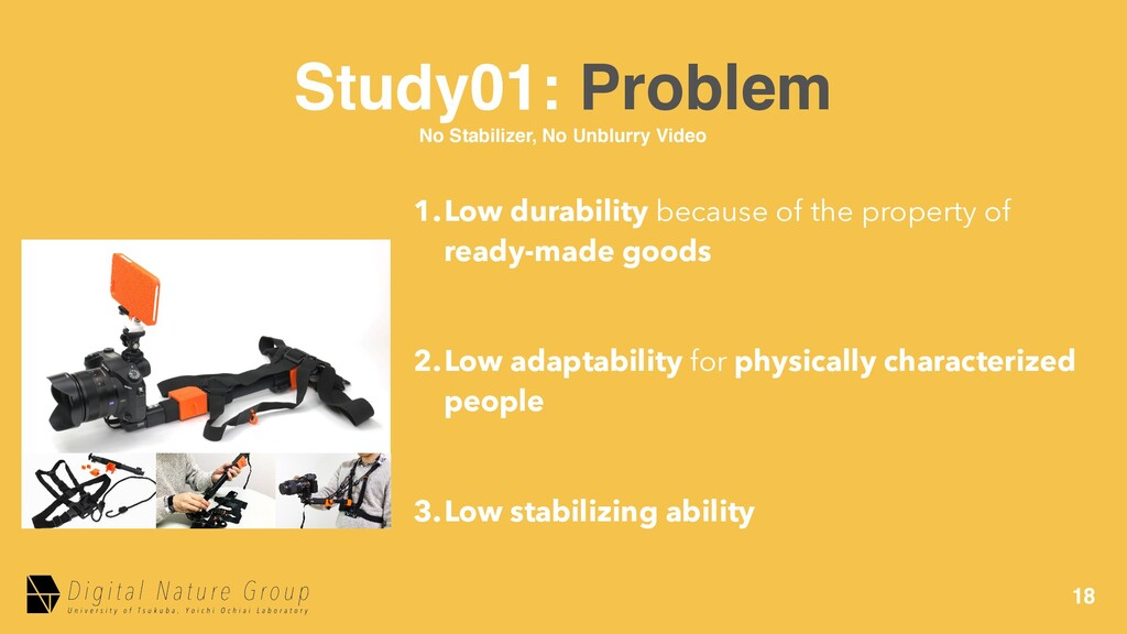 18 Study01: Problem No Stabilizer, No Unblurry ...