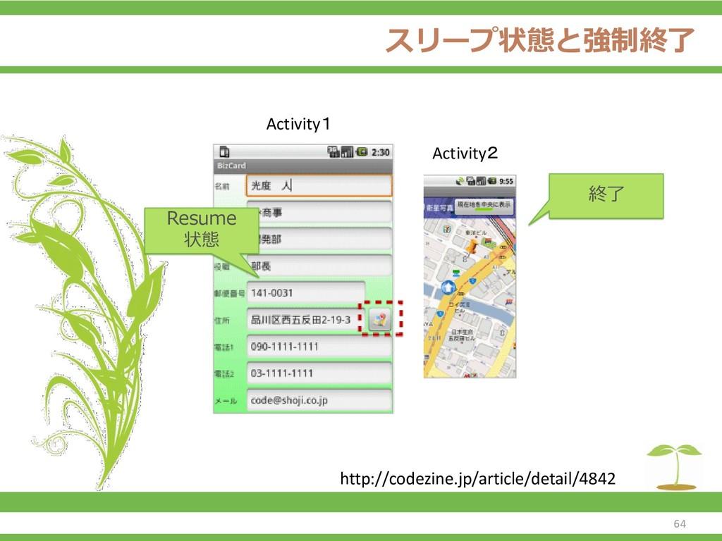 スリープ状態と強制終了 64 http://codezine.jp/article/detai...