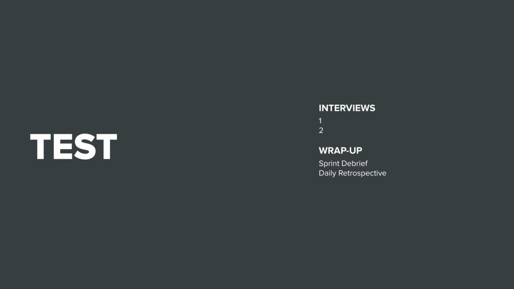 TEST INTERVIEWS 1 2 WRAP-UP Sprint Debrief Dail...