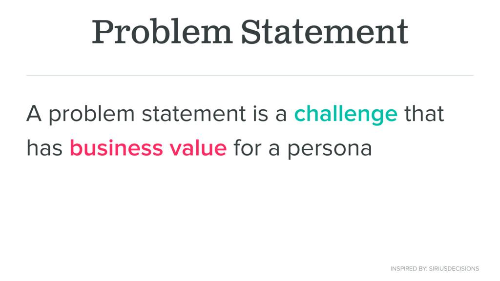 Problem Statement A problem statement is a chal...