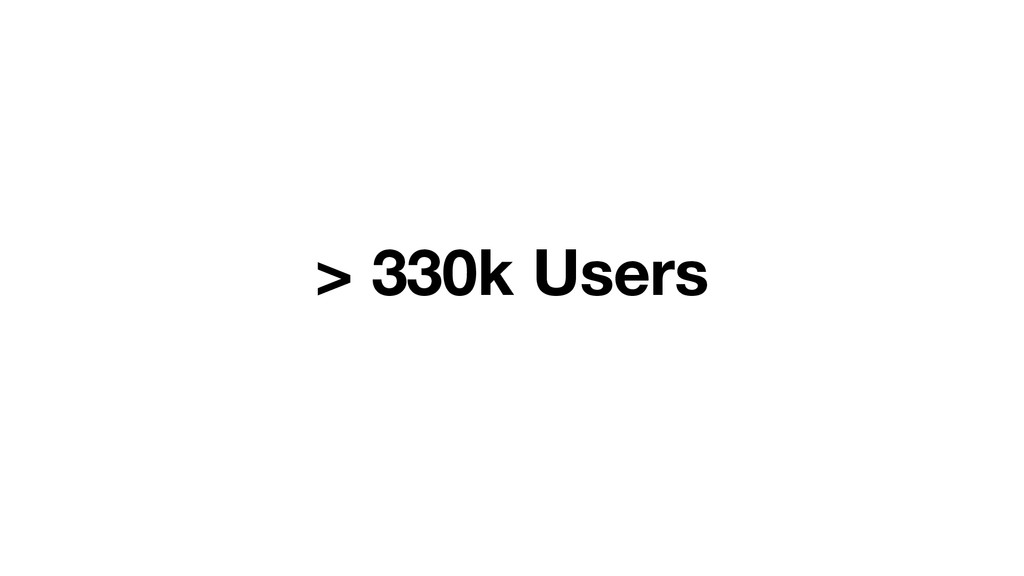 > 330k Users