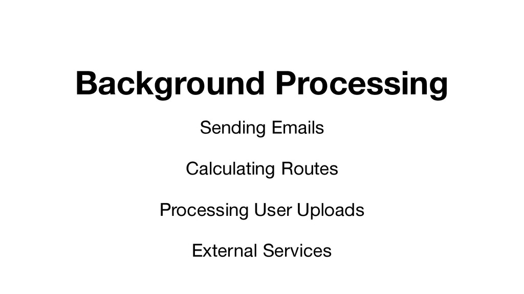 Background Processing Sending Emails Calculatin...