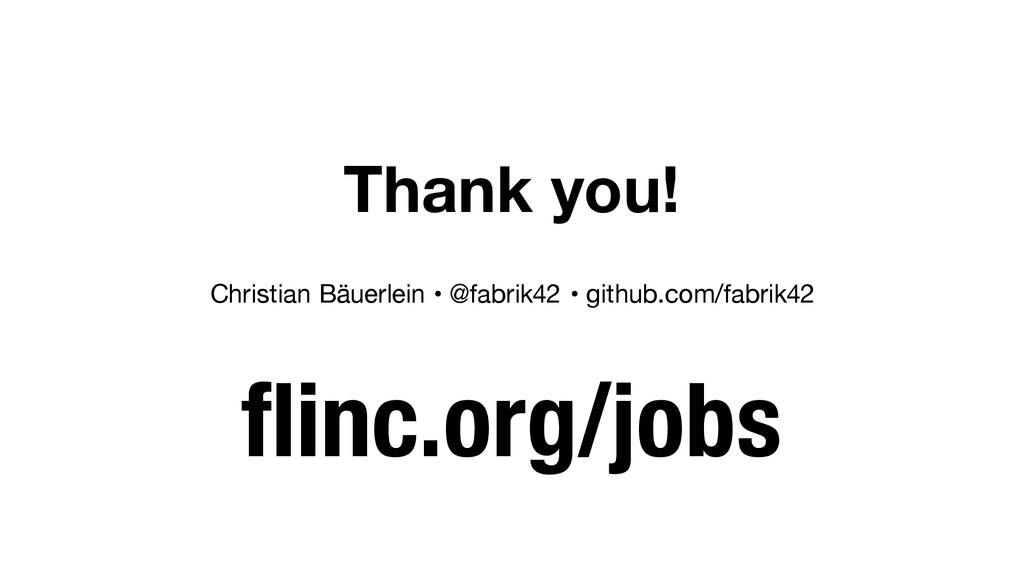 Thank you! flinc.org/jobs Christian Bäuerlein •...