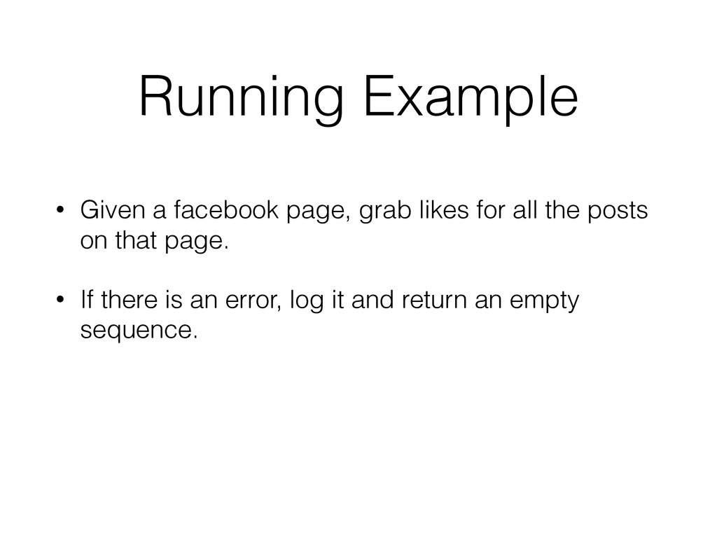 Running Example • Given a facebook page, grab l...
