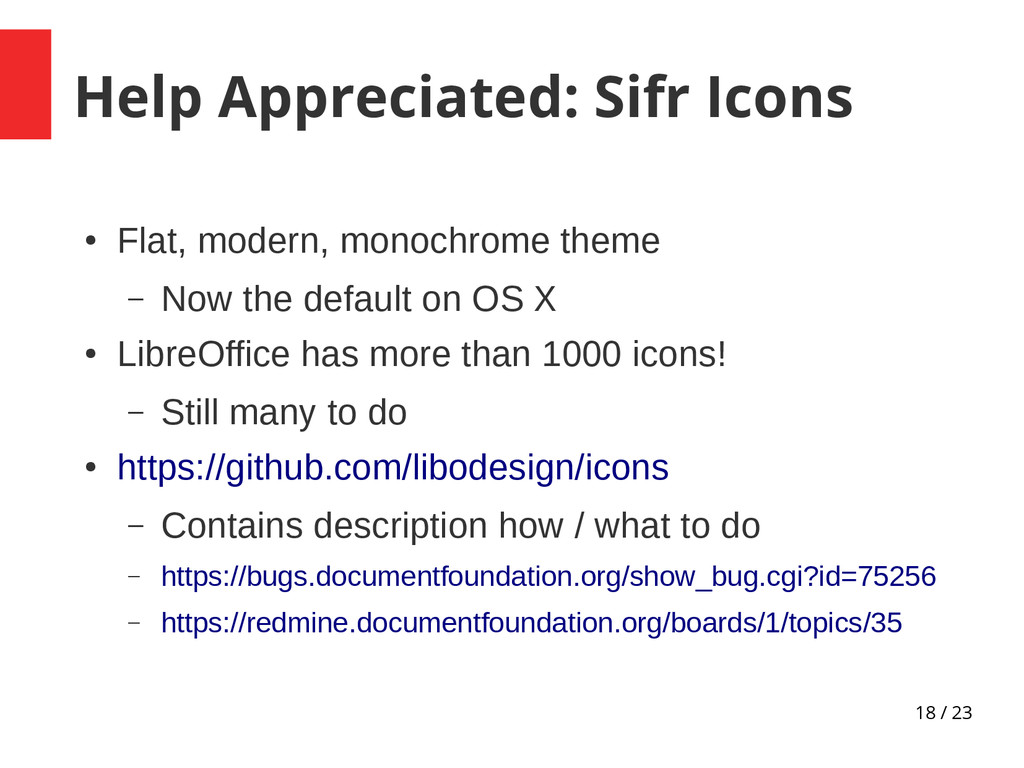 18 / 23 Help Appreciated: Sifr Icons ● Flat, mo...