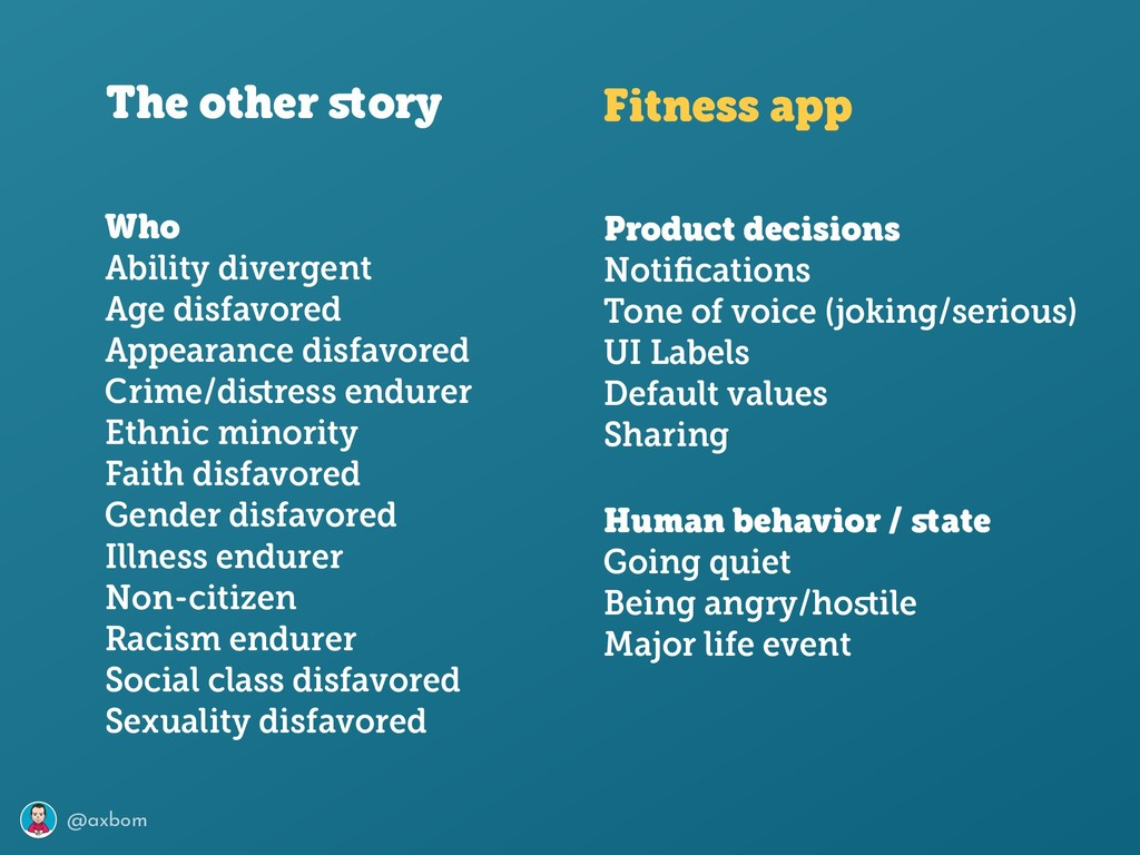 @axbom The other story Fitness app Product decis...