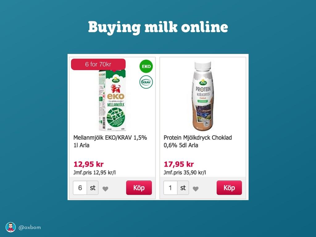 @axbom Buying milk online 6 for 70kr