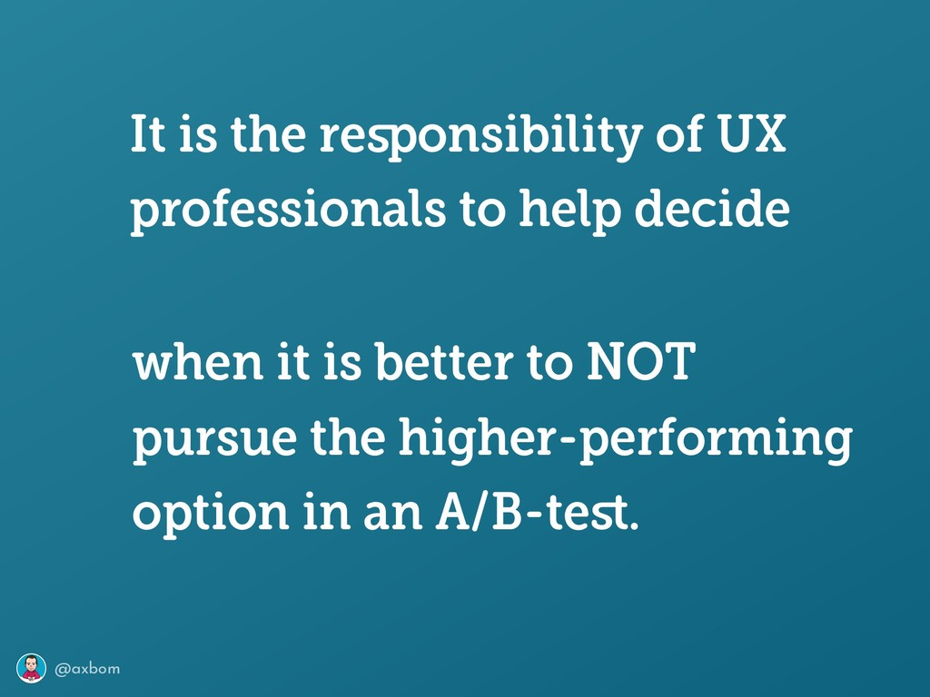 @axbom when it is better to NOT pursue the high...