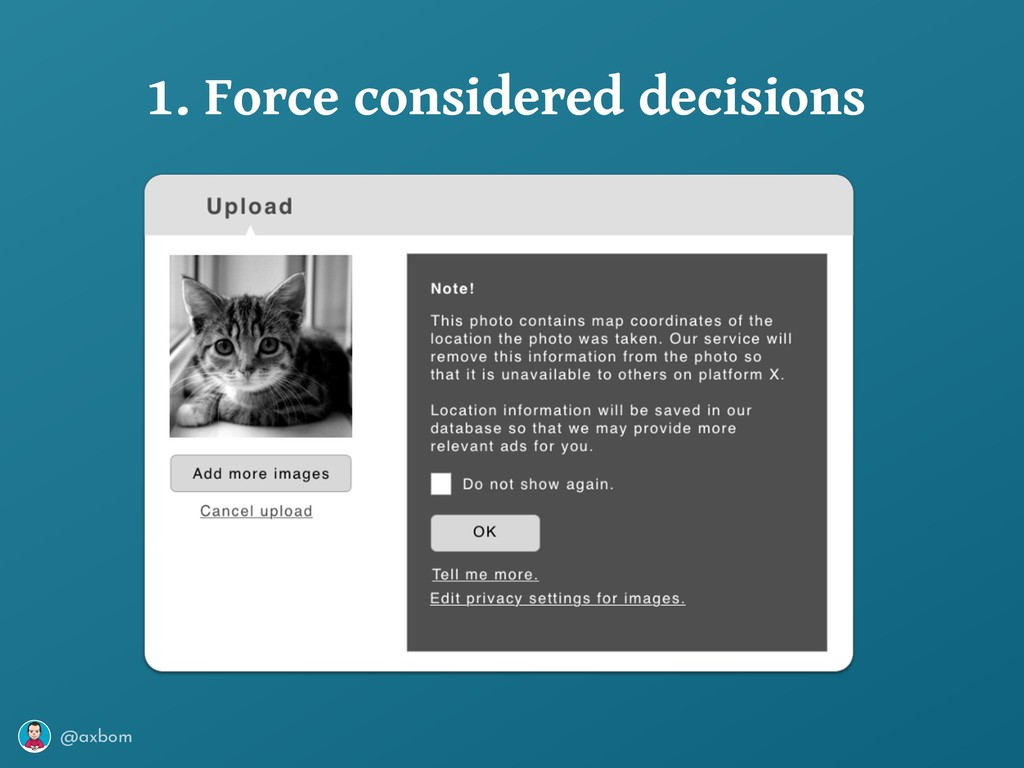@axbom 1. Force considered decisions
