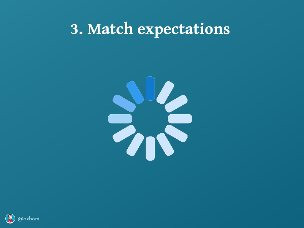 @axbom 3. Match expectations