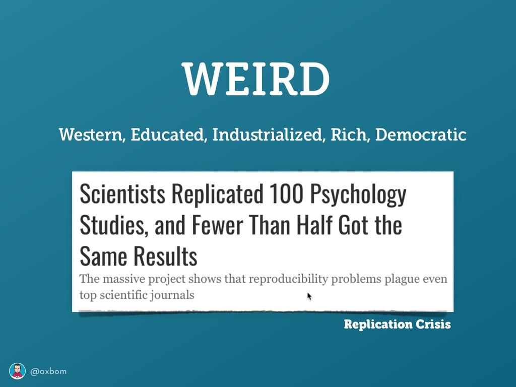 @axbom WEIRD Western, Educated, Industrialized, R...