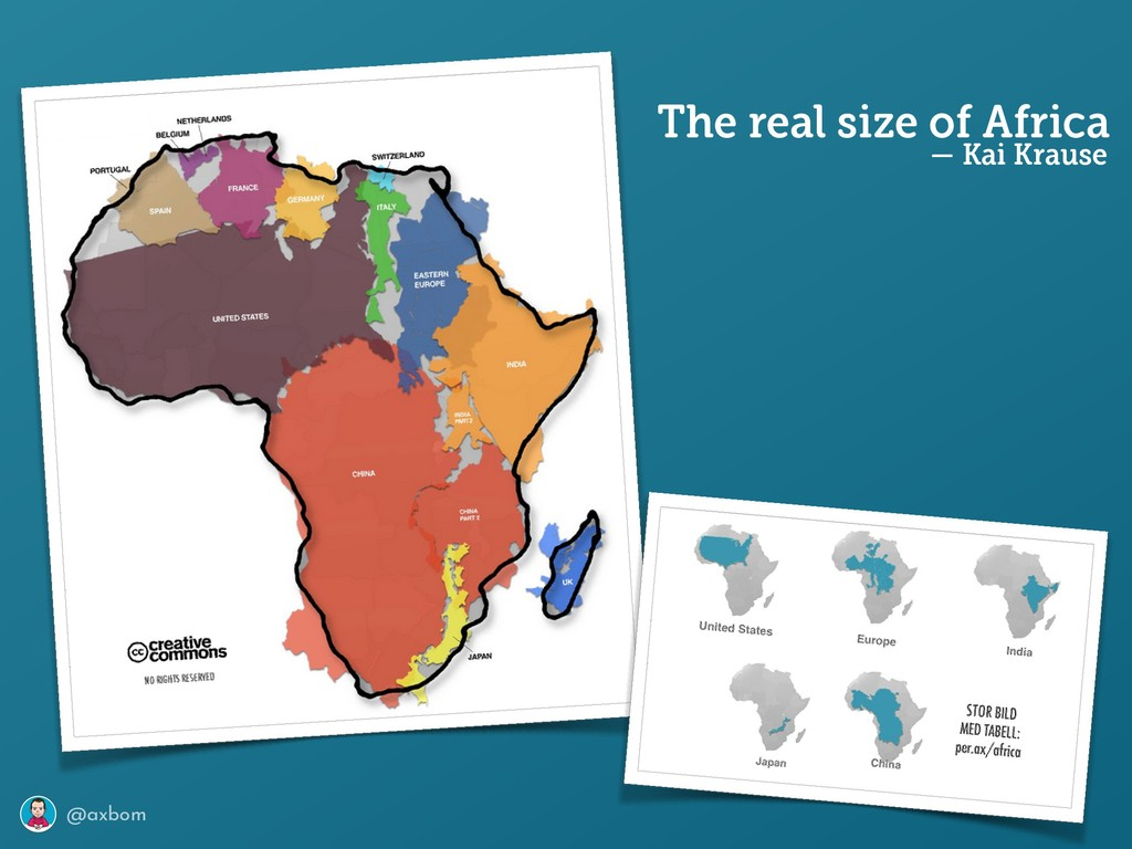 @axbom The real size of Africa — Kai Krause