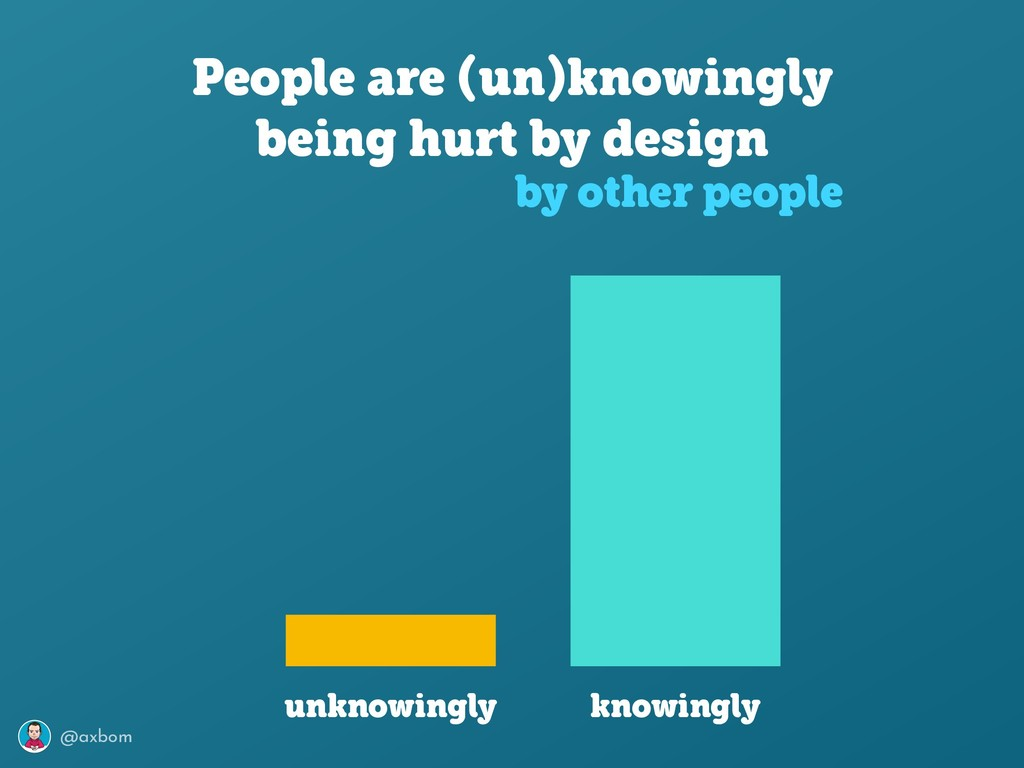 @axbom People are (un)knowingly being hurt by d...