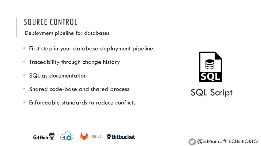 SOURCE CONTROL Deployment pipeline for database...