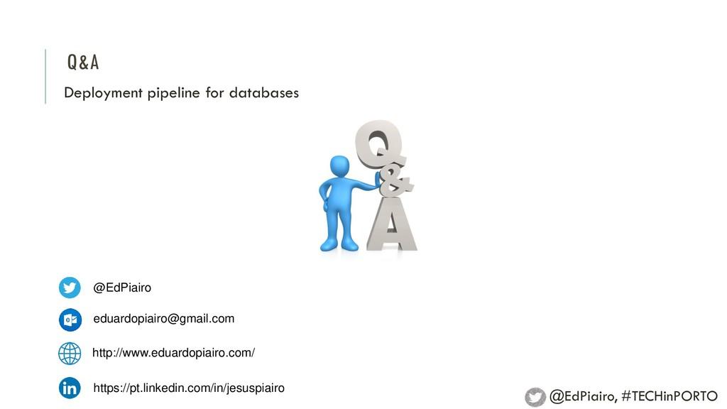 Q&A Deployment pipeline for databases @EdPiairo...