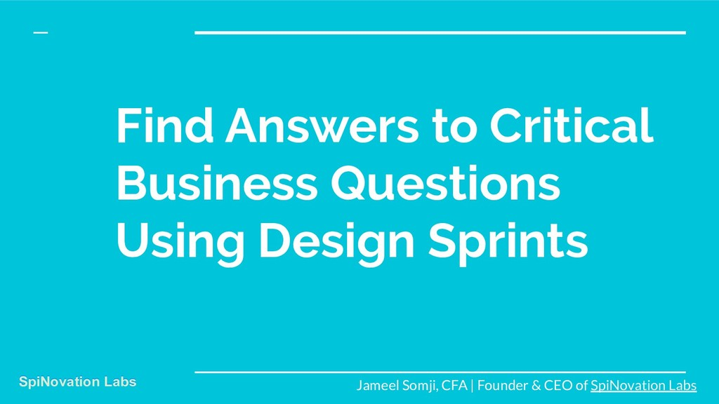 Find Answers to Critical Business Questions Usi...