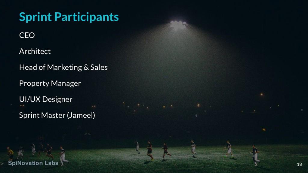 Sprint Participants CEO Architect Head of Marke...