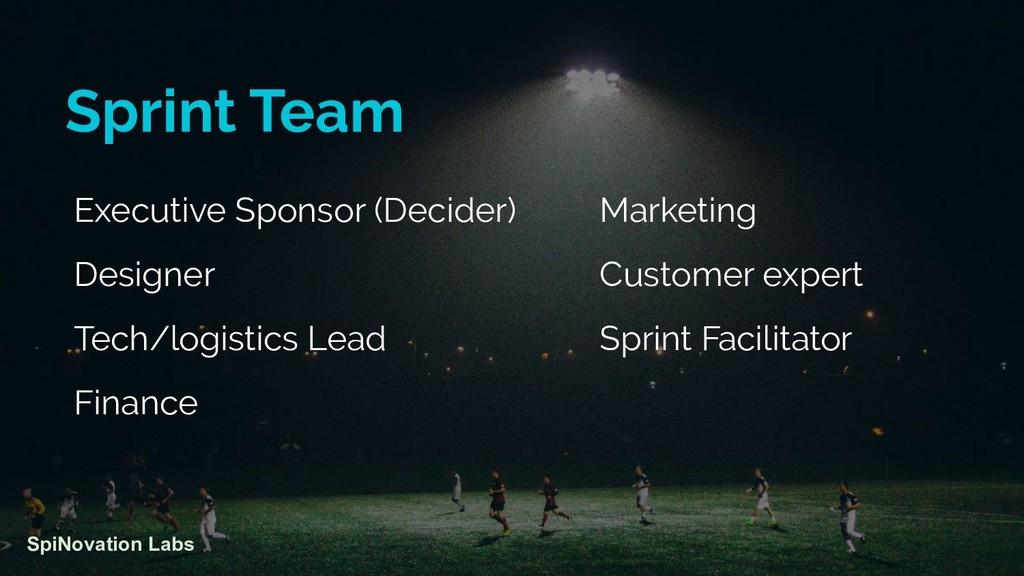 Executive Sponsor (Decider) Designer Tech/logis...