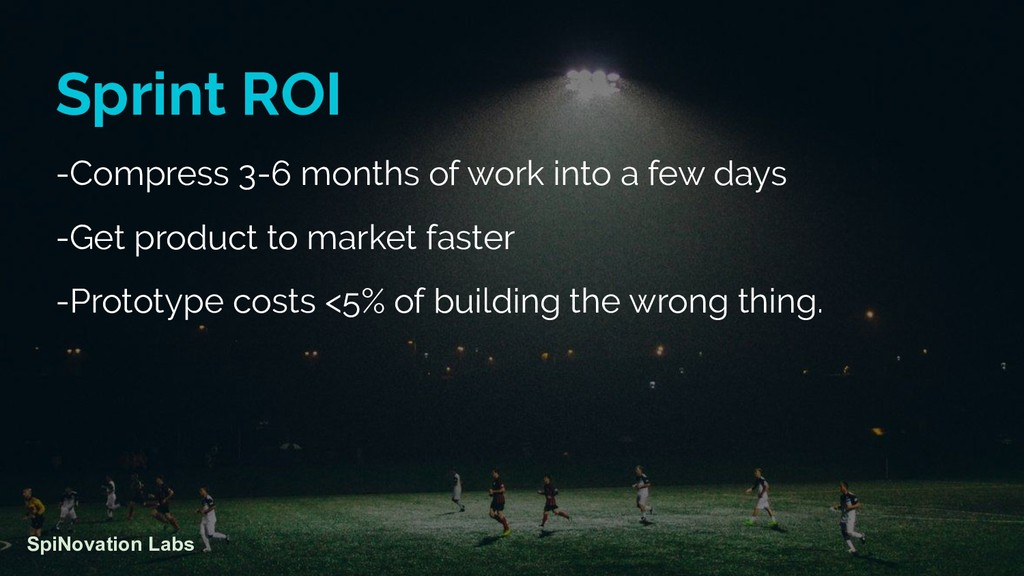 Sprint ROI -Compress 3-6 months of work into a ...