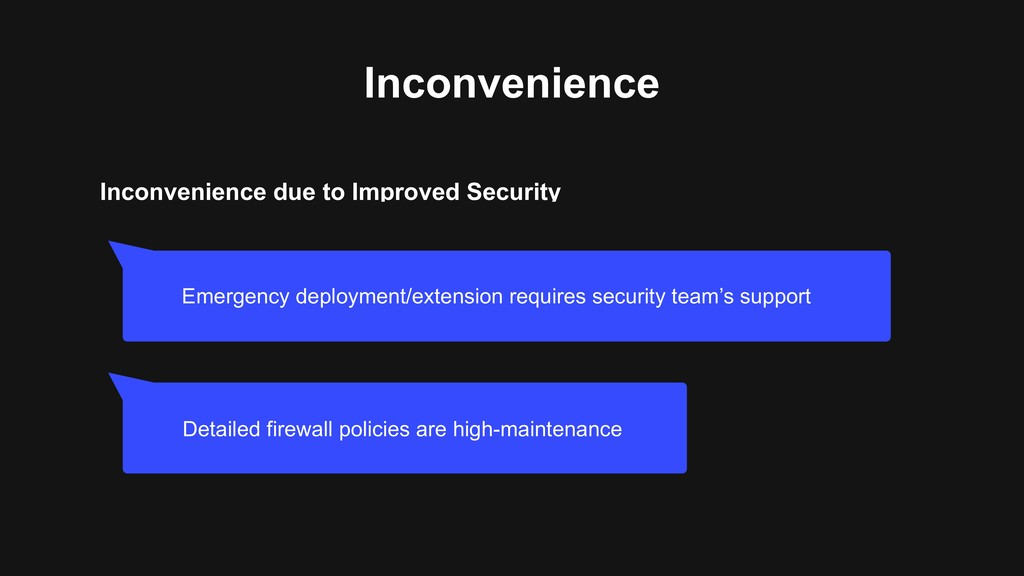 Inconvenience due to Improved Security Inconven...
