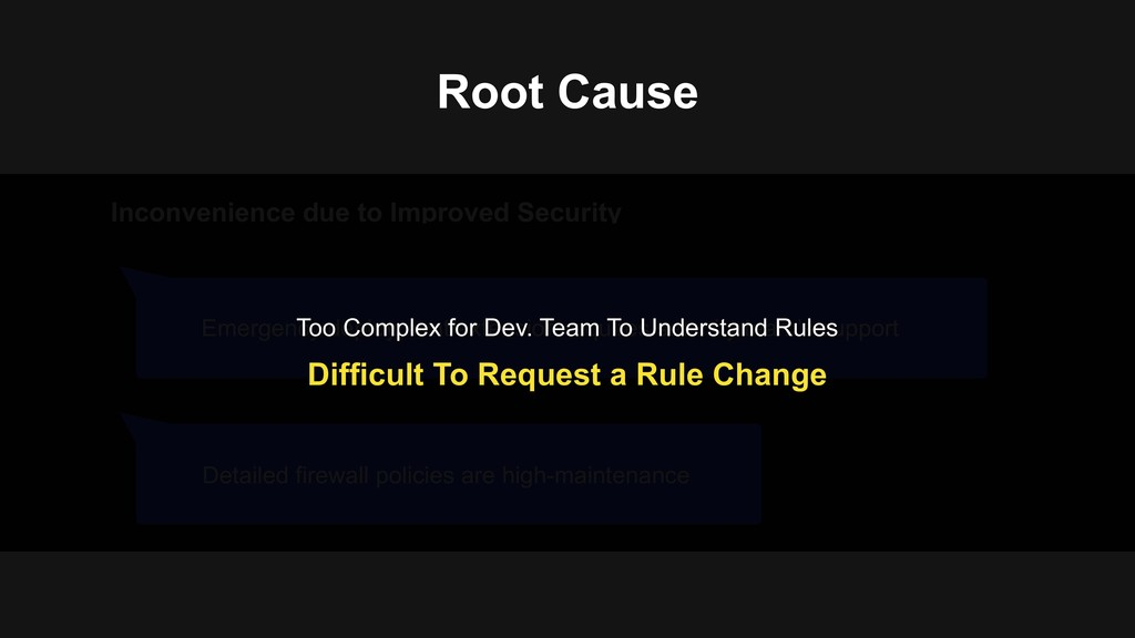 Root Cause Inconvenience due to Improved Securi...
