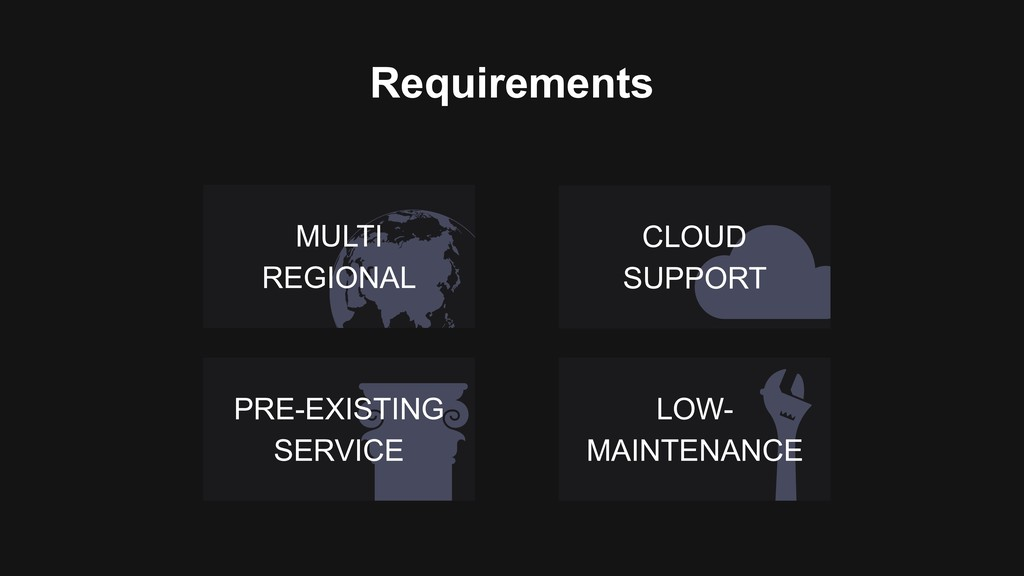 LOW- MAINTENANCE Requirements CLOUD SUPPORT MUL...
