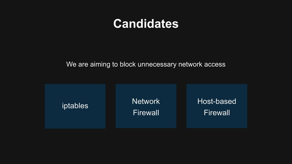 Candidates We are aiming to block unnecessary n...