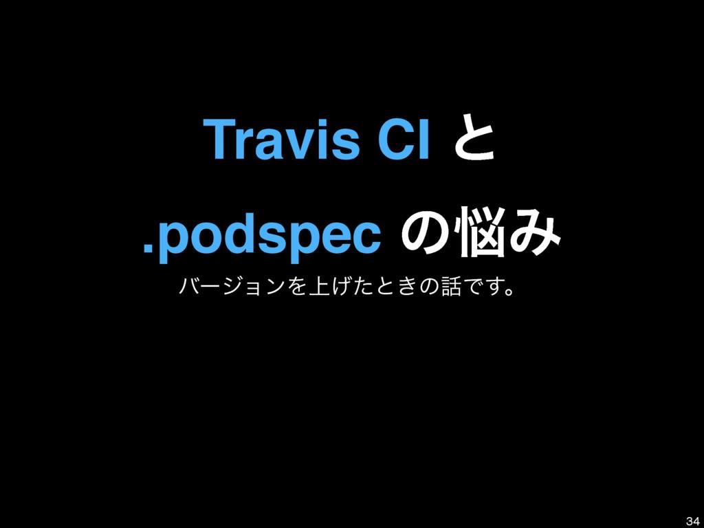 Travis CI ͱ .podspec ͷΈ όʔδϣϯΛ্͛ͨͱ͖ͷͰ͢ɻ 34