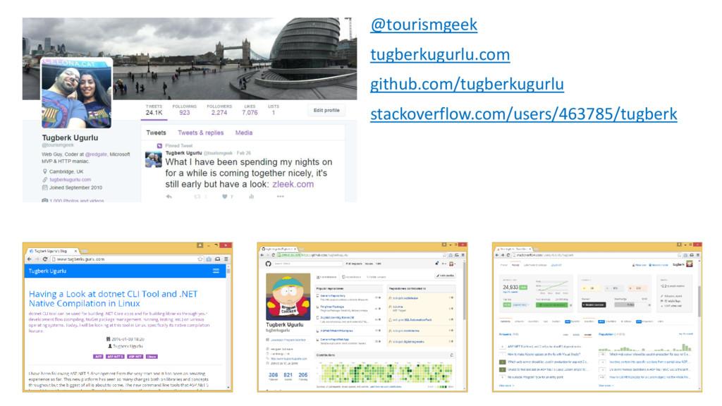 @tourismgeek tugberkugurlu.com github.com/tugbe...