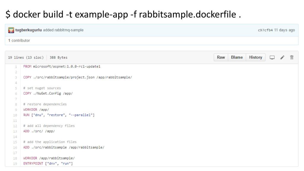 $ docker build -t example-app -f rabbitsample.d...