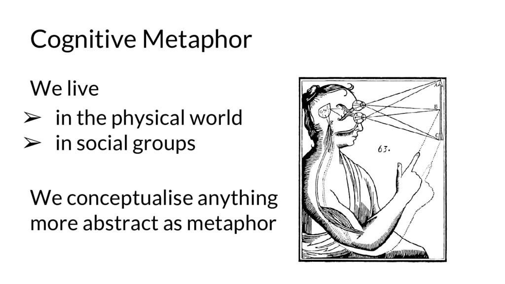 Cognitive Metaphor We live ➢ in the physical wo...