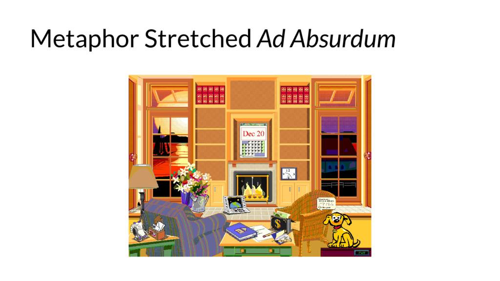 Metaphor Stretched Ad Absurdum