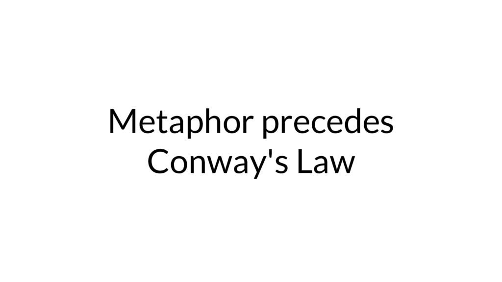 Metaphor precedes Conway's Law
