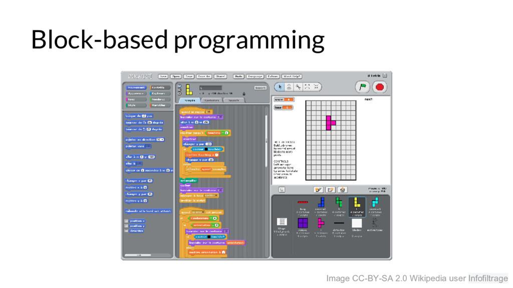 Block-based programming Image CC-BY-SA 2.0 Wiki...