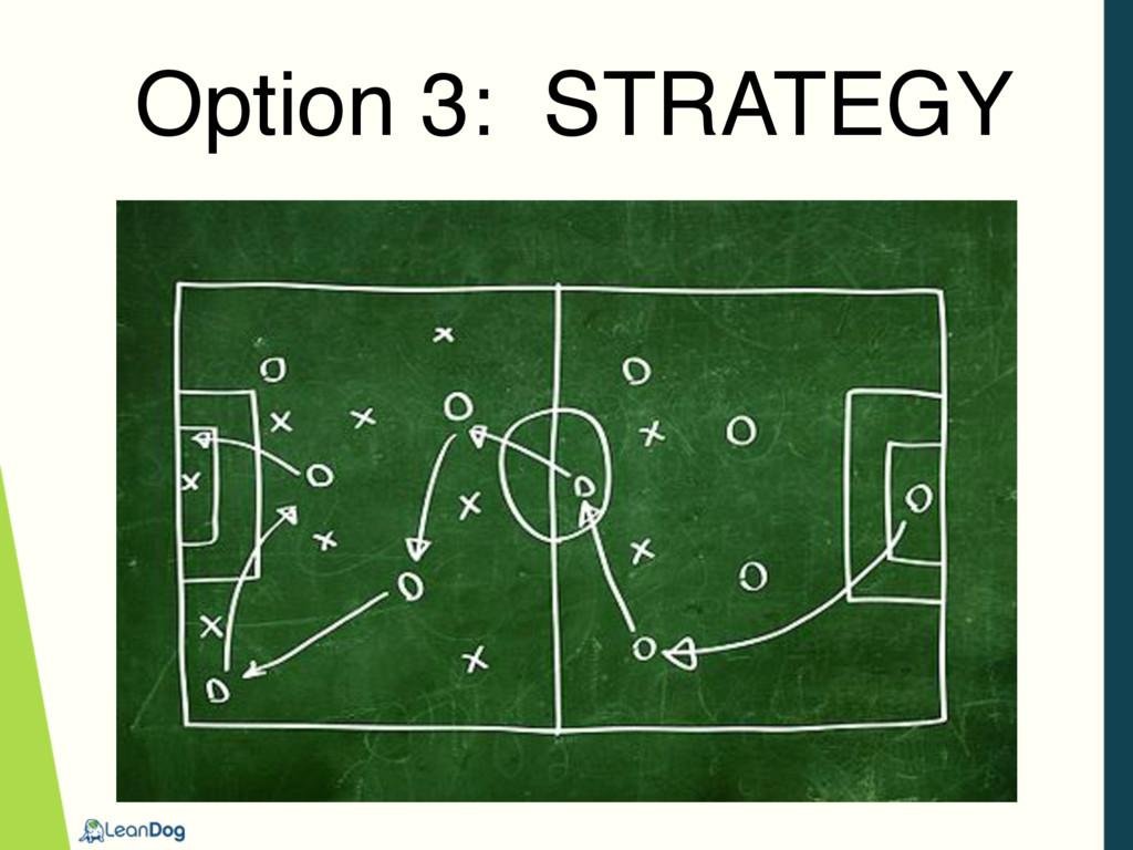 Option 3: STRATEGY
