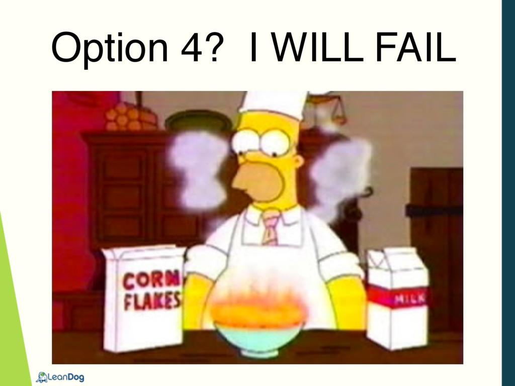 Option 4? I WILL FAIL
