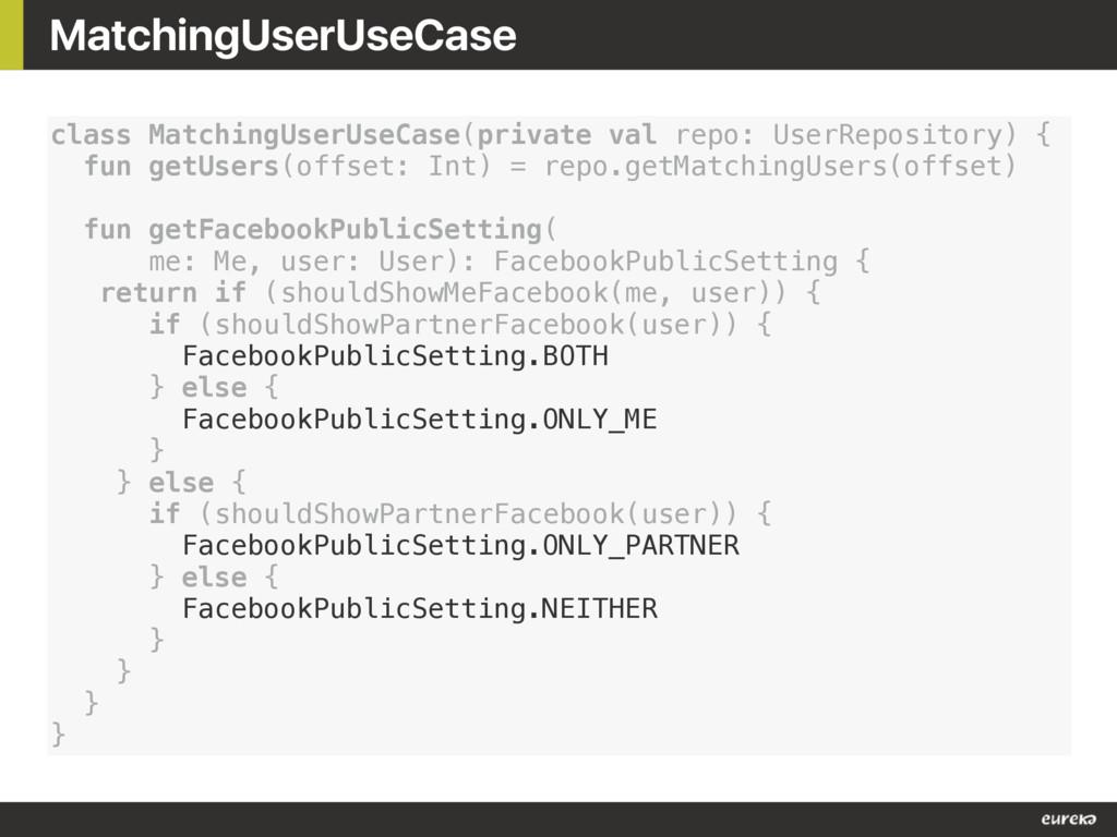 MatchingUserUseCase class MatchingUserUseCase(p...