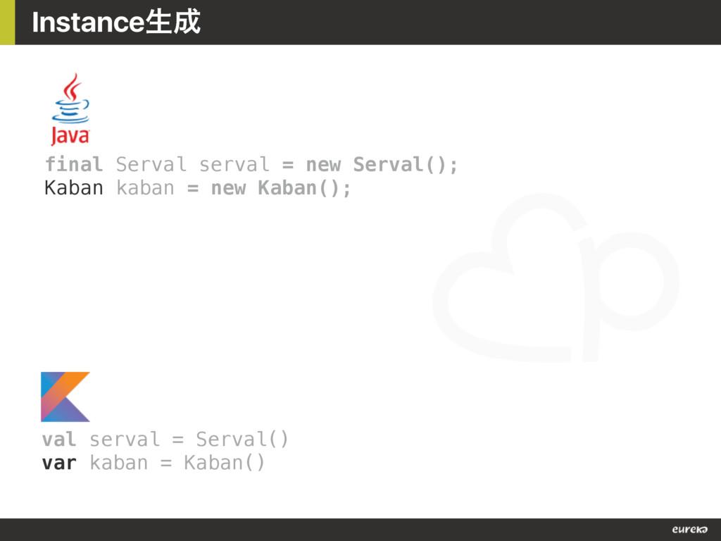 Instanceੜ final Serval serval = new Serval(); ...