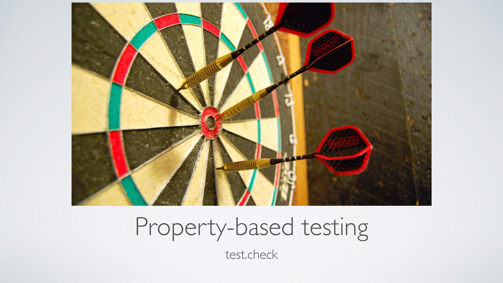 Property-based testing test.check