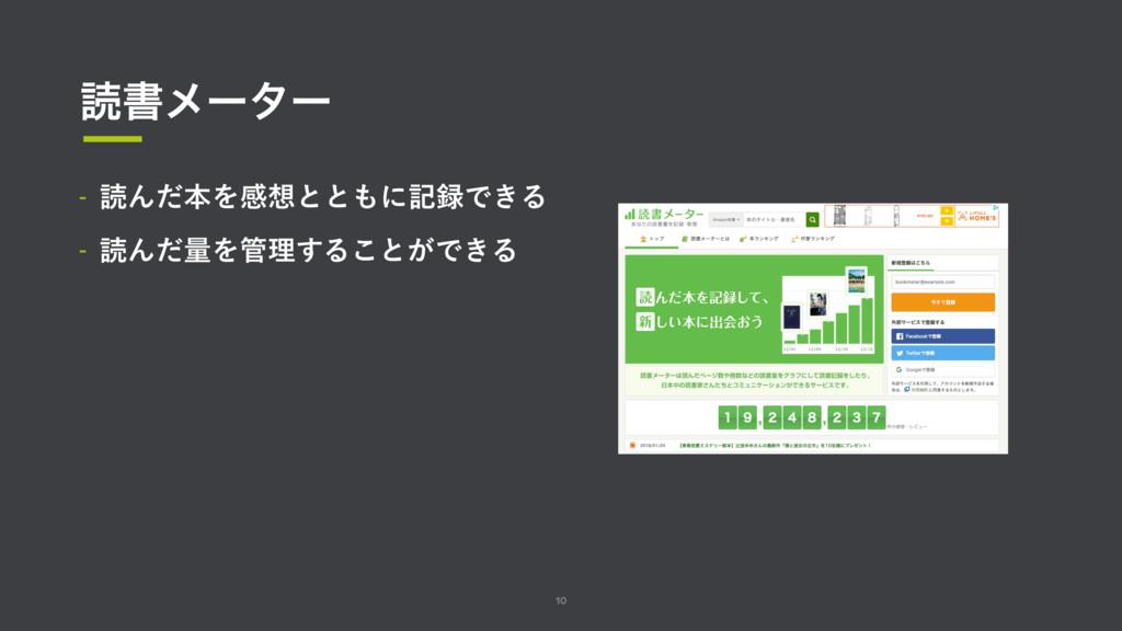10 ಡॻϝʔλʔ  ಡΜͩຊΛײͱͱʹهͰ͖Δ  ಡΜͩྔΛཧ͢Δ͜ͱ͕Ͱ͖Δ