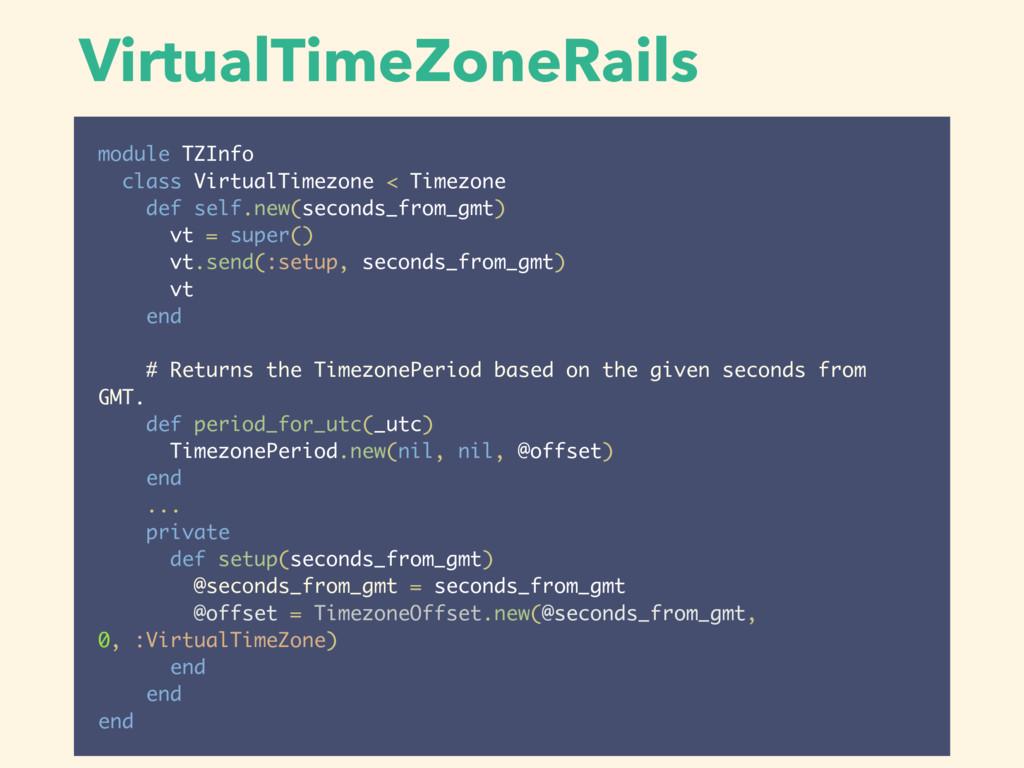 VirtualTimeZoneRails module TZInfo class Virtua...