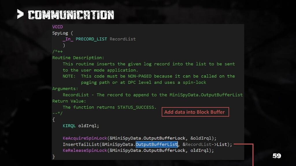 > Add data into Block Buffer