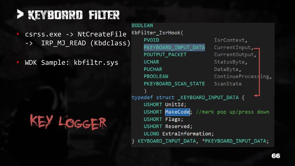 > • csrss.exe -> NtCreateFile -> IRP_MJ_READ (K...
