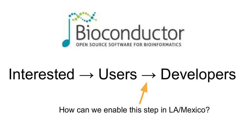 Interested → Users → Developers How can we enab...