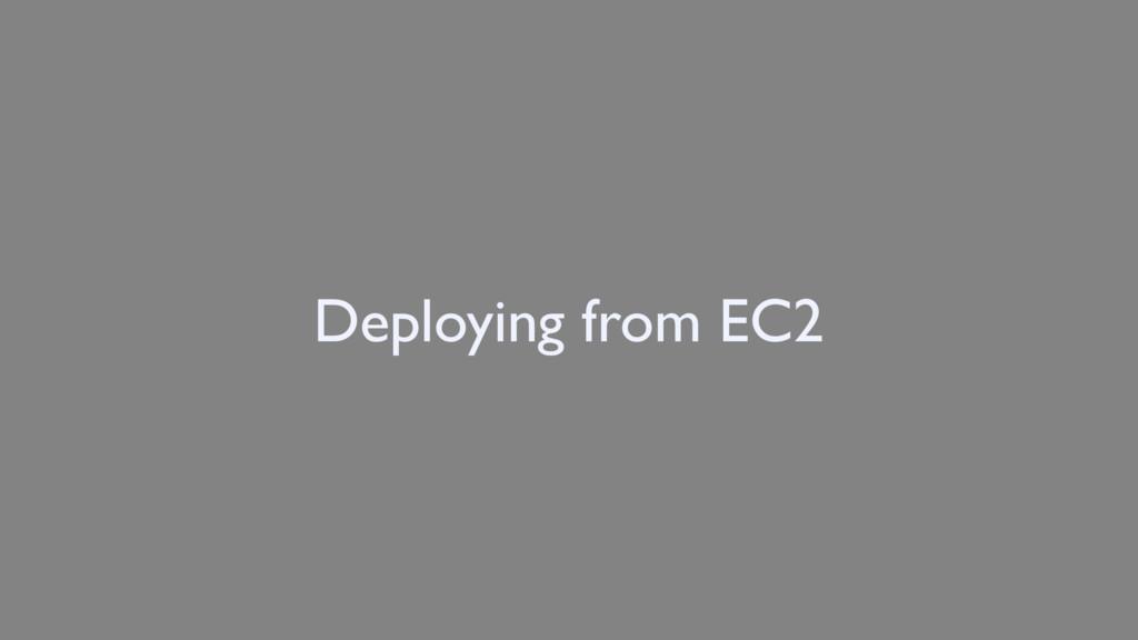 Deploying from EC2